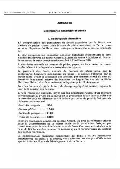 Accord Maroc russie
