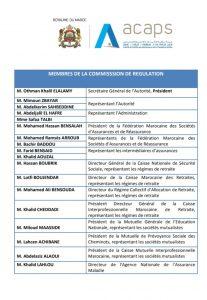 commission de régulation de l'ACAPS