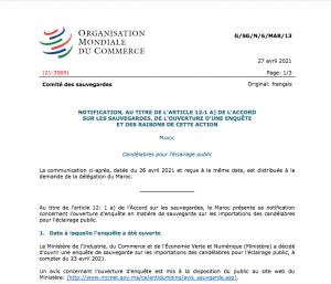 OMC enquête de sauvegarde candélabres d'éclairage public